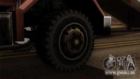 New Flatbed Industrial pour GTA San Andreas sur la vue arrière gauche