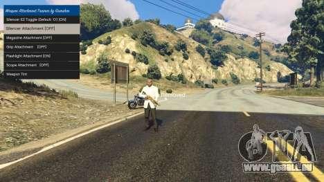 Tuning accessoires pour armes 1.1 pour GTA 5