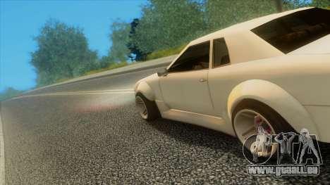 Elegy Rocket Bunny Edition pour GTA San Andreas vue de dessous
