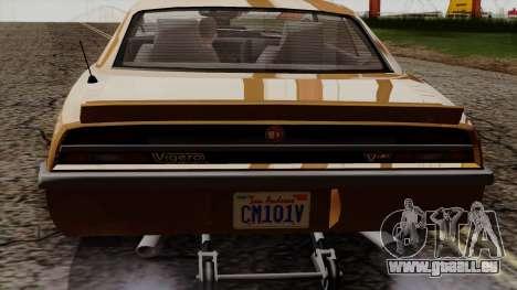 GTA 5 Declasse Vigero pour GTA San Andreas vue de côté