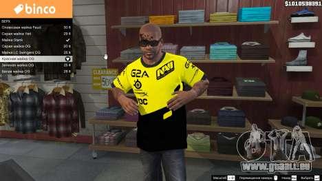 T-shirt pour les Natus Vincere Franklin pour GTA 5