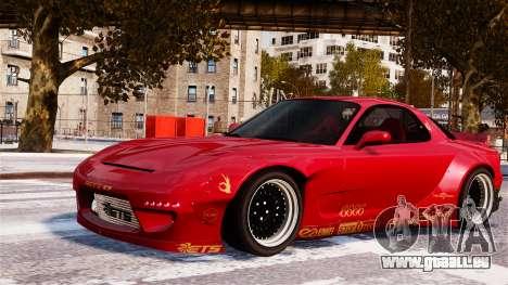 Mazda RX-7 RocketBunny EPM pour GTA 4 est une vue de l'intérieur
