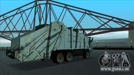 TDK Volvo Xpeditor Garbage Crash Version für GTA San Andreas Seitenansicht