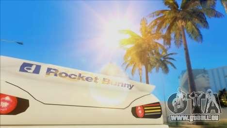 Elegy Rocket Bunny Edition pour GTA San Andreas vue intérieure