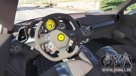 GTA 5 Ferrari 458 Italia v1.0.4 arrière droit vue de côté
