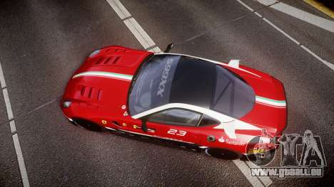 Ferrari 599XX 2010 Scuderia Ferrari für GTA 4 rechte Ansicht