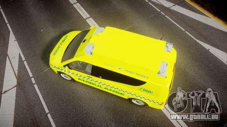 Volkswagen Transporter Norwegian Ambulance [ELS] für GTA 4 rechte Ansicht