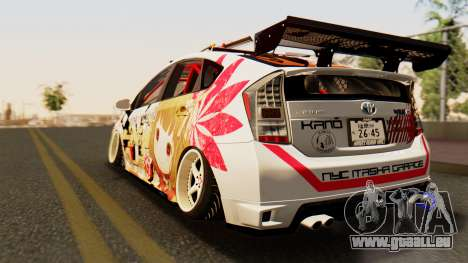 Toyota Prius JDM 2011 Itasha für GTA San Andreas linke Ansicht