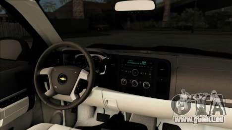 Chevrolet Silverado 1500 LT 2010 pour GTA San Andreas vue arrière