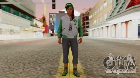 [GTA5] Fam Girl pour GTA San Andreas deuxième écran