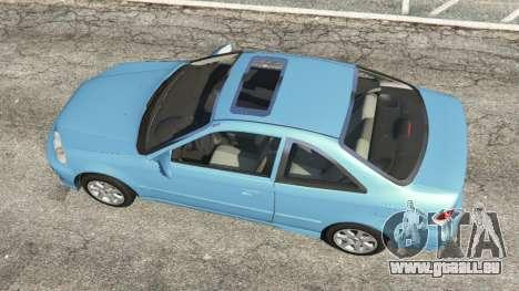 GTA 5 Honda Civic Si 1999 v1.1 vue arrière