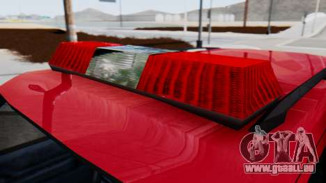 FDSA Fire SUV für GTA San Andreas zurück linke Ansicht