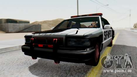 Police SF with Lightbars pour GTA San Andreas