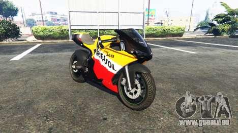 Pegassi Bati 801RR Repsol pour GTA 5