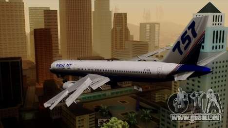Boeing 757-200 (N757A) für GTA San Andreas linke Ansicht