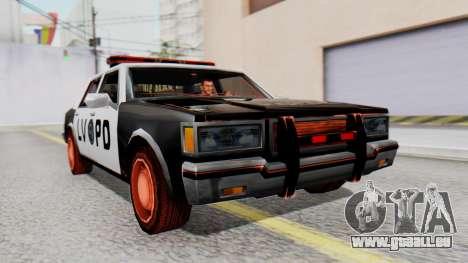 Police LV with Lightbars für GTA San Andreas