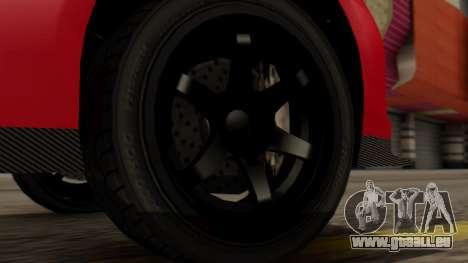 GTA 5 Annis Elegy RH8 IVF pour GTA San Andreas sur la vue arrière gauche