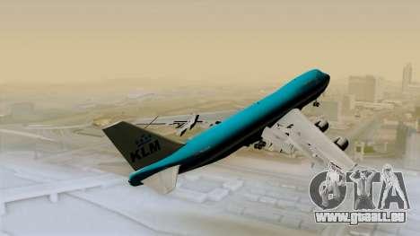 Boeing 747-200B KLM pour GTA San Andreas sur la vue arrière gauche