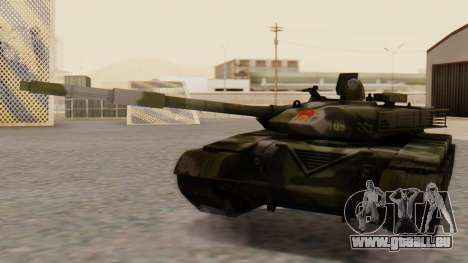Type 99 pour GTA San Andreas sur la vue arrière gauche