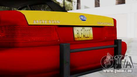 Dolton Broadwing Taxi pour GTA San Andreas vue arrière