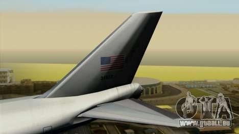 Boeing 747 E-4B pour GTA San Andreas sur la vue arrière gauche