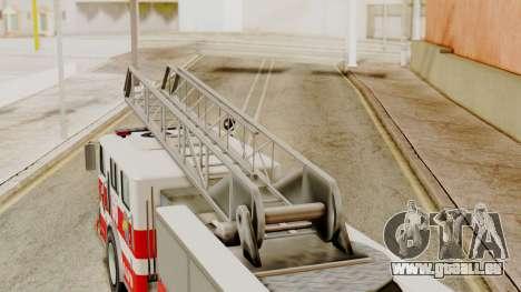 SAFD Fire Lader Truck Flat Shadow für GTA San Andreas rechten Ansicht