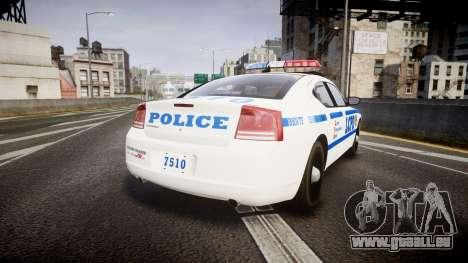 Dodge Charger LCPD pour GTA 4 Vue arrière de la gauche