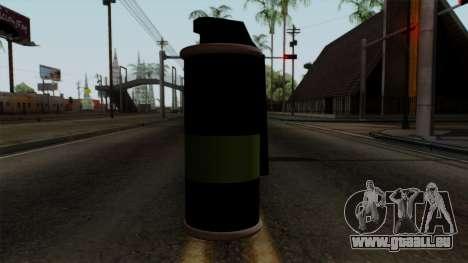 Original HD Tear Gas für GTA San Andreas dritten Screenshot
