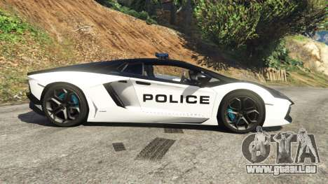 GTA 5 Lamborghini Aventador LP700-4 Police linke Seitenansicht