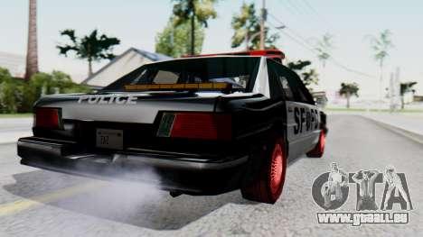 Police SF with Lightbars pour GTA San Andreas laissé vue