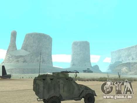 L'APC 40 pour GTA San Andreas vue arrière