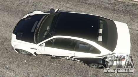 BMW M3 GTR E46 black on white pour GTA 5