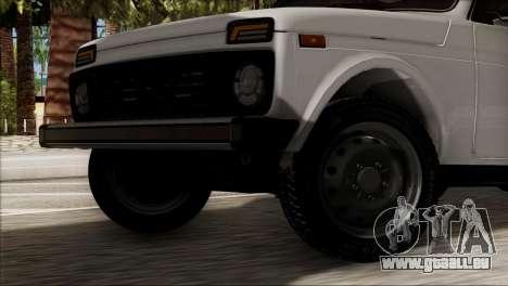 VAZ Niva 2121 BUFG Édition pour GTA San Andreas sur la vue arrière gauche