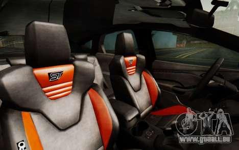 Ford Focus ST 2012 pour GTA San Andreas vue arrière
