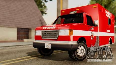 SAFD Ambulance pour GTA San Andreas vue de droite