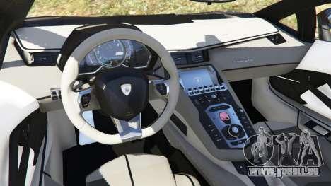 GTA 5 Lamborghini Aventador LP700-4 Police rechte Seitenansicht