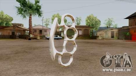 Original HD Brass Knuckle pour GTA San Andreas deuxième écran