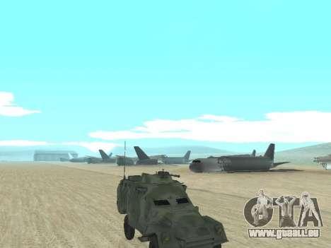 L'APC 40 pour GTA San Andreas vue de droite