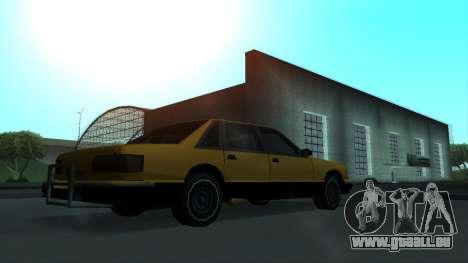 New Taxi pour GTA San Andreas vue de côté