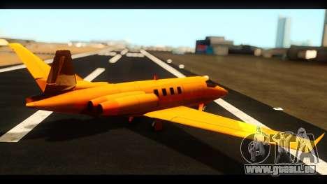 Shamal Deluxe pour GTA San Andreas laissé vue
