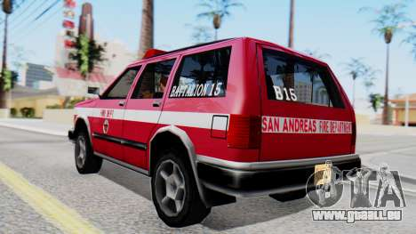 FDSA Fire SUV für GTA San Andreas linke Ansicht