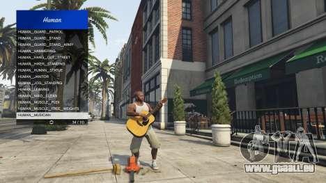 Scenario Menu 1.1 pour GTA 5