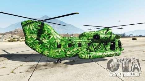 Western Company Cargobob Cannabis pour GTA 5