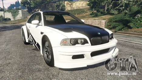 BMW M3 GTR E46 black on white für GTA 5