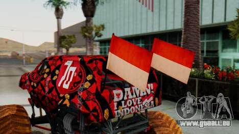The Seventy Monster pour GTA San Andreas vue arrière