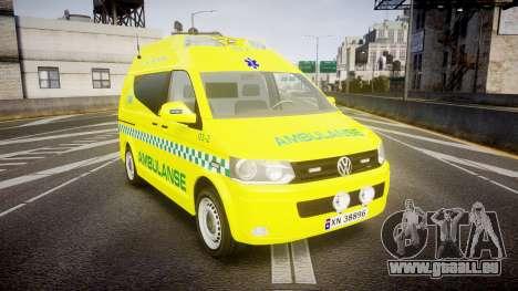 Volkswagen Transporter Norwegian Ambulance [ELS] für GTA 4