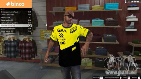 GTA 5 T-shirt für Natus Vincere Franklin zweite Screenshot