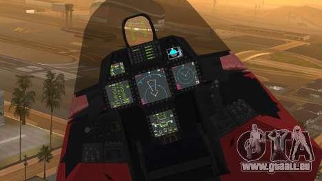 F-22 Raptor MARIO pour GTA San Andreas vue de droite