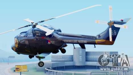 Westland SH-14D Lynx pour GTA San Andreas laissé vue
