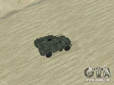 L'APC 40 pour GTA San Andreas vue de côté